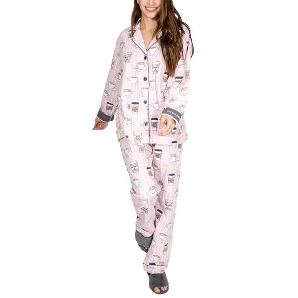 PJ Salvage Rise and Grind Flannel PJ Set - Pink Pattern