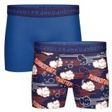 Frank Dandy 2 pakkaus Turbo Boxers - Blue Pattern - Large
