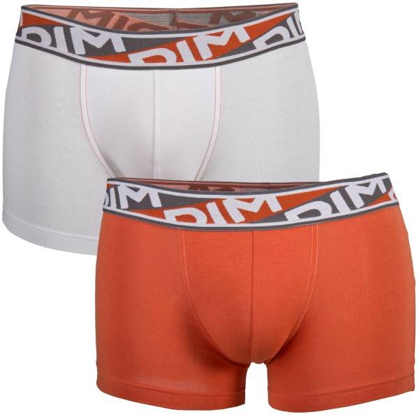 DIM. 2 pakkaus Mens Underwear Urban Boxer P - White/Orange - Small * Kampanja *