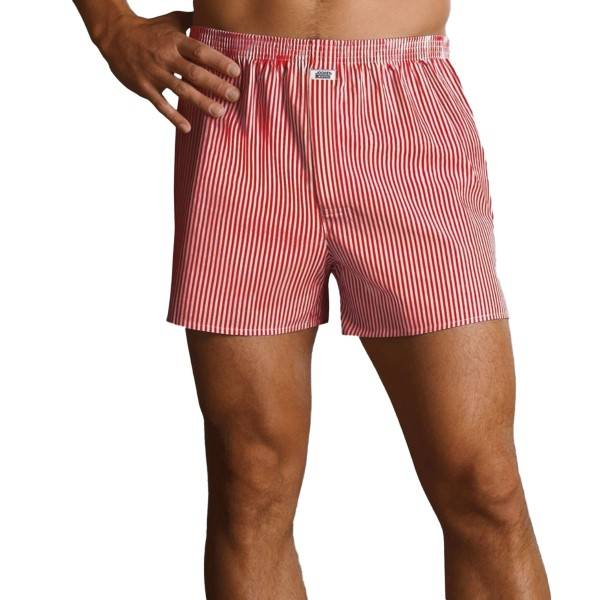 Jockey Woven Boxer 314100-310 - Red striped - XX-Large