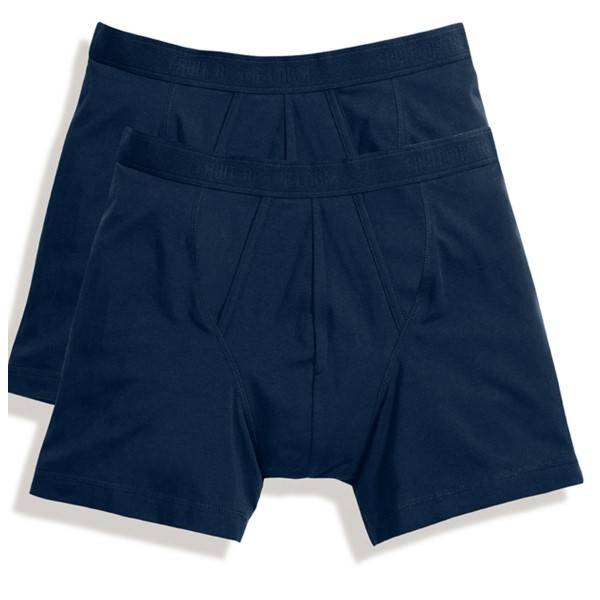 Fruit of the Loom 2 pakkaus Classic Boxer - Navy-2 - Small