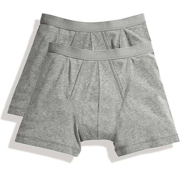 Fruit of the Loom 2 pakkaus Classic Boxer - Greymarl - XX-Large