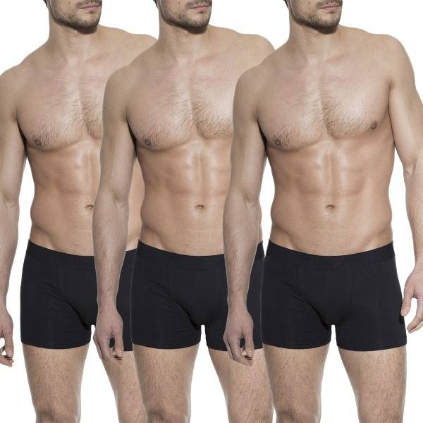Bread & Boxers Bread and Boxers Boxer Briefs 3 pakkaus - Black