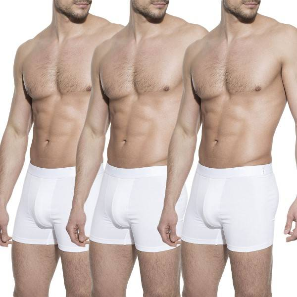 Bread & Boxers Bread and Boxers Boxer Briefs 3 pakkaus - White - Large