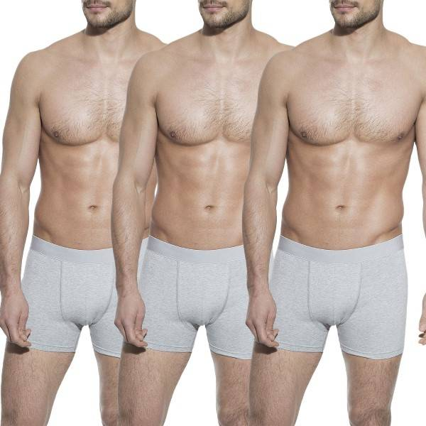 Bread & Boxers Bread and Boxers Boxer Briefs 3 pakkaus - Grey - Small