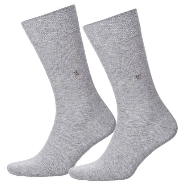 Burlington 2 pakkaus Everyday Cotton Sock - Light grey - Koko 40/46