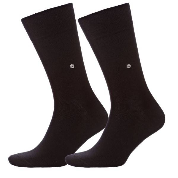Burlington 2 pakkaus Everyday Cotton Sock - Black - Koko 40/46