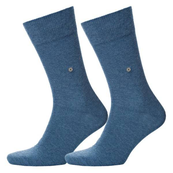 Burlington 2 pakkaus Everyday Cotton Sock - Denim - Koko 40/46