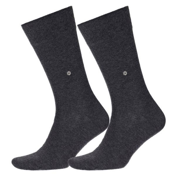 Burlington 2 pakkaus Everyday Cotton Sock - Grey - Koko 40/46