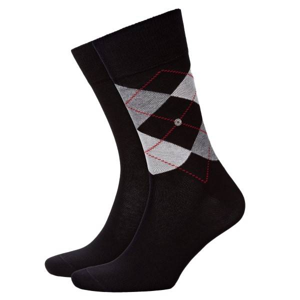 Burlington 2 pakkaus Everyday Mix Cotton Sock - Black - Koko 40/46
