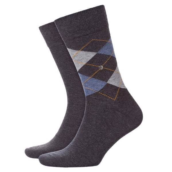 Burlington 2 pakkaus Everyday Mix Cotton Sock - Grey - Koko 40/46