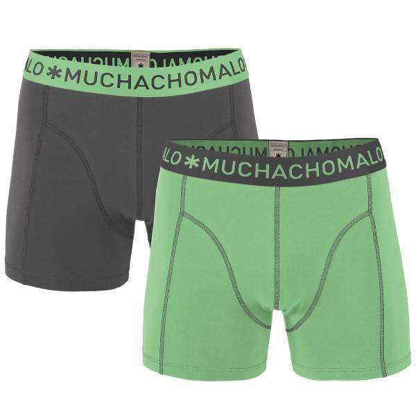 Muchachomalo 2 pakkaus Solid Boxer - Green - Medium