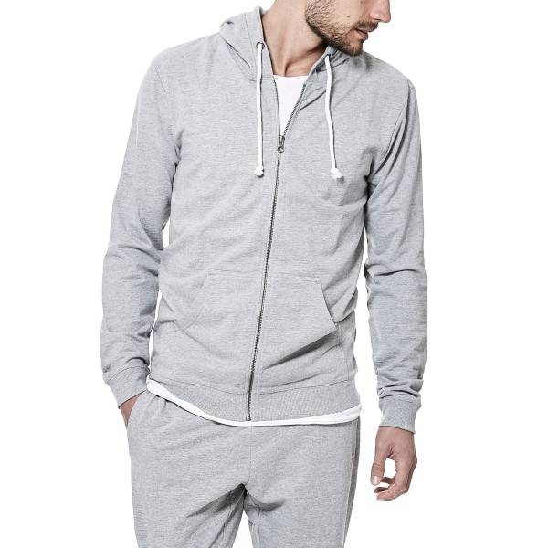 Bread & Boxers Bread and Boxers Men Hoodie - Grey