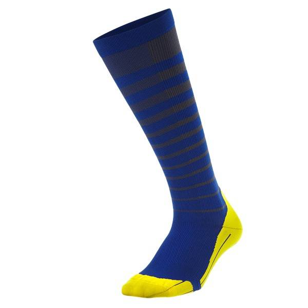 2XU Striped Run Compression Socks Men - Blue