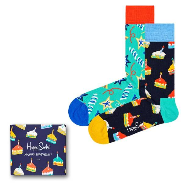 Happy socks 3 pakkaus Birthday Gift Box - Mixed - Koko 41/46 * Kampanja *