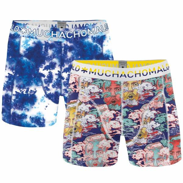 Muchachomalo 2 pakkaus Head In The Clouds Boxer Print - Pattern-2 - Large