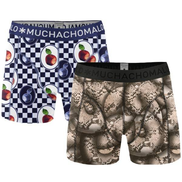 Muchachomalo 2 pakkaus Forbidden Fruits Boxer - Black/Blue - Large