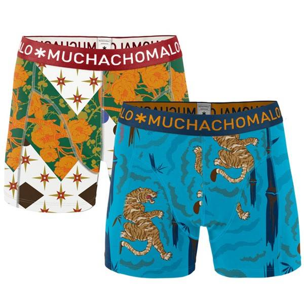 Muchachomalo 2 pakkaus Tiger Wood Boxer - Mixed - Large