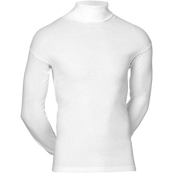 JBS Classic Roll Neck Long Sleeve - White