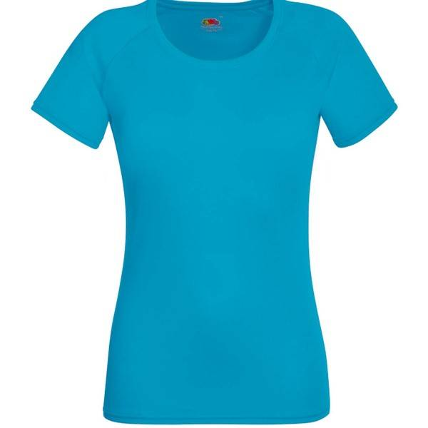 Fruit of the Loom Lady-Fit Performance T - Blue