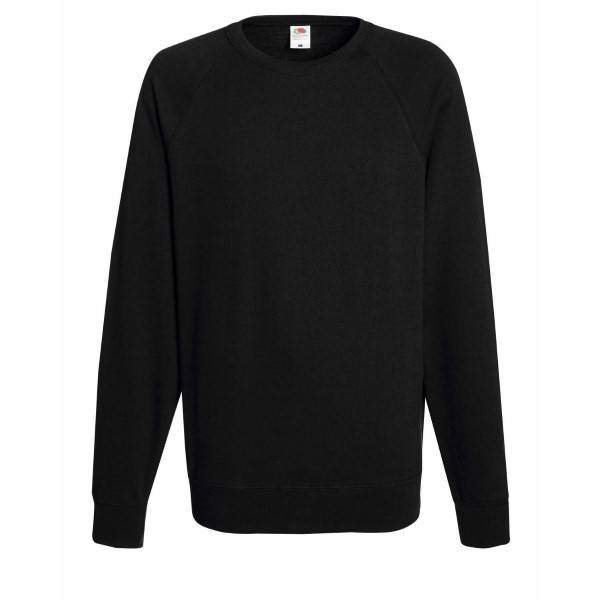Fruit of the Loom Light Raglan Sweat - Black - Small