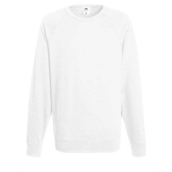 Fruit of the Loom Light Raglan Sweat - White - X-Large