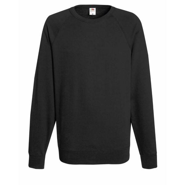 Fruit of the Loom Light Raglan Sweat - Graphite - XX-Large