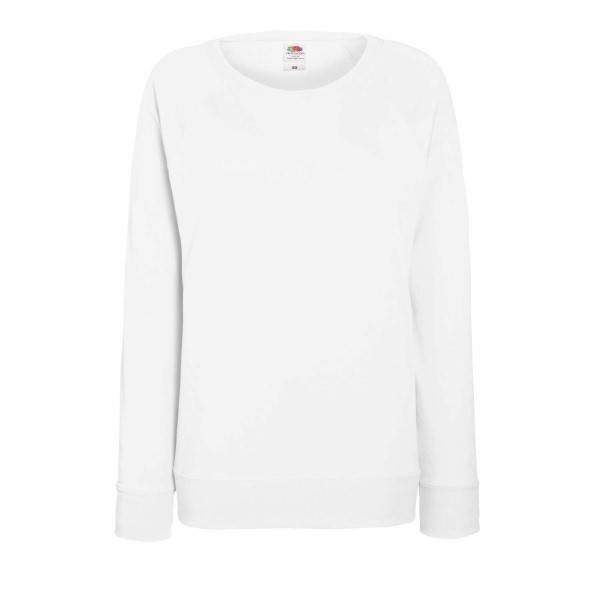 Fruit of the Loom Lady-Fit Light Raglan Sweat - White