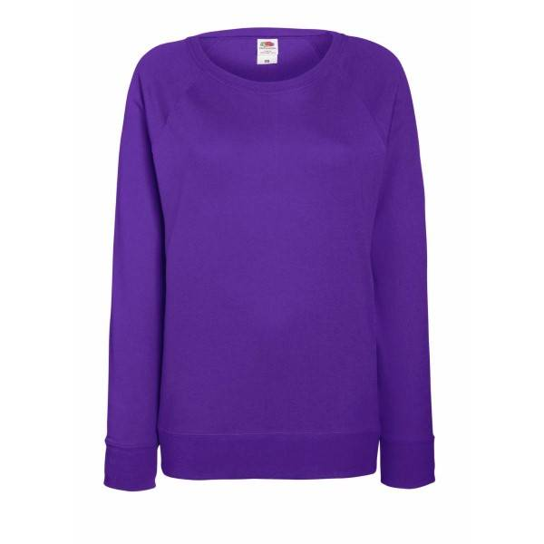 Fruit of the Loom Lady-Fit Light Raglan Sweat - Lilac - Large