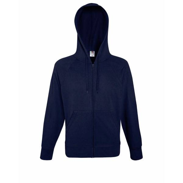Fruit of the Loom Hooded Sweat Jacket - Darkblue - Large