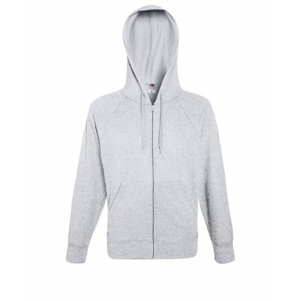 Fruit of the Loom Hooded Sweat Jacket - Greymarl - X-Large