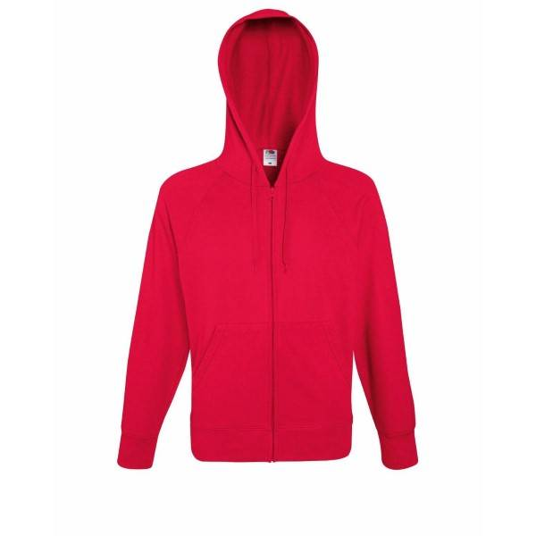Fruit of the Loom Hooded Sweat Jacket - Red - Large