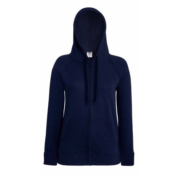 Fruit of the Loom Lady-Fit Hooded Sweat Jacket - Darkblue - X-Large