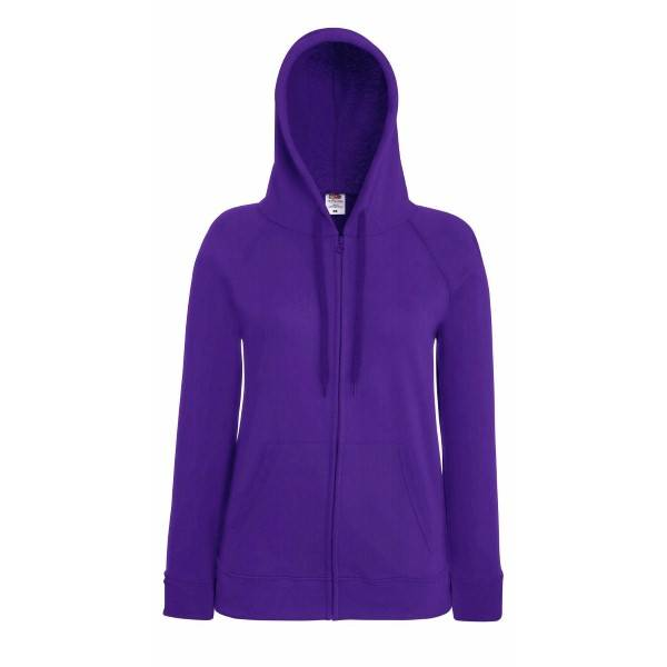 Fruit of the Loom Lady-Fit Hooded Sweat Jacket - Lilac