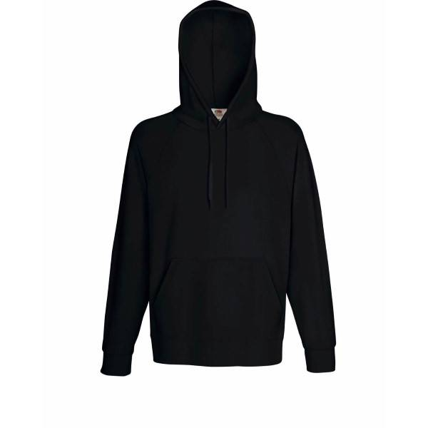 Fruit of the Loom Light Hooded Sweat - Black - Medium