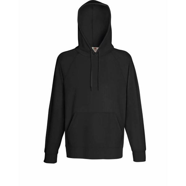 Fruit of the Loom Light Hooded Sweat - Graphite - XX-Large