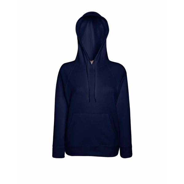 Fruit of the Loom Lady-Fit Light Hooded Sweat - Darkblue - Small