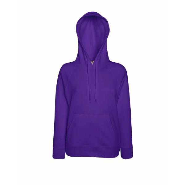 Fruit of the Loom Lady-Fit Light Hooded Sweat - Lilac - X-Large