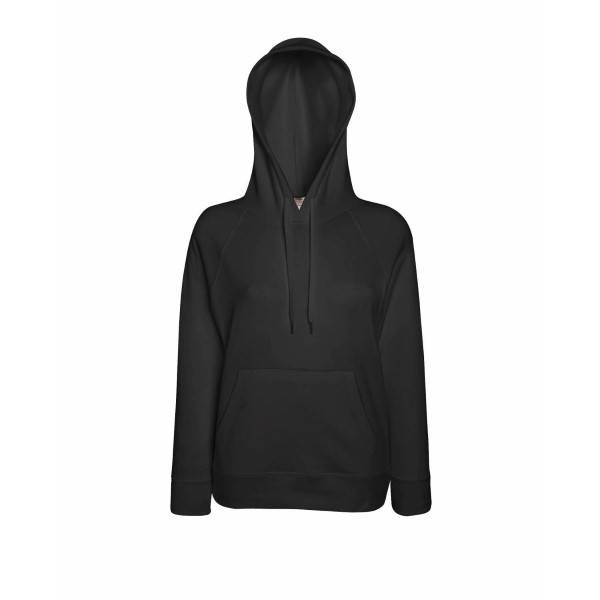 Fruit of the Loom Lady-Fit Light Hooded Sweat - Graphite