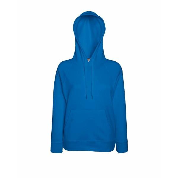 Fruit of the Loom Lady-Fit Light Hooded Sweat - Royalblue