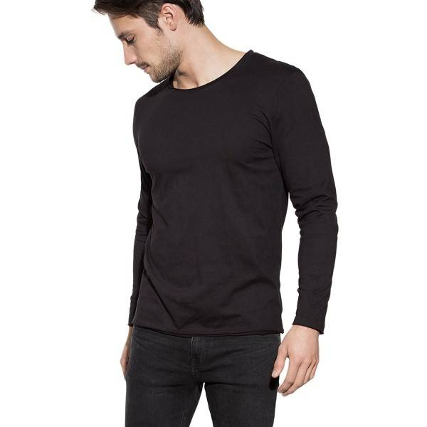 Bread & Boxers Bread and Boxers Long Sleeve Relaxed - Black - Large