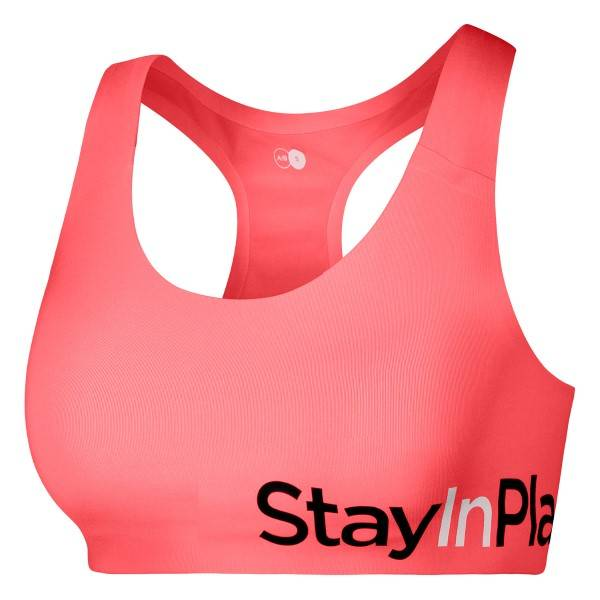 Stay In Place StayInPlace Active Sports Bra A-B - Coral * Kampanja *