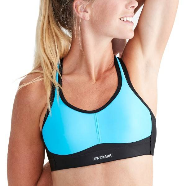 SWEMARK Sport by Swegmark Swemark Courage Coolmax Sports Bra - Turquoise
