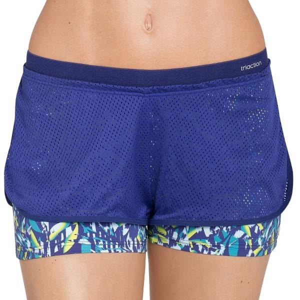 Triumph Triaction The Fit-ster Short 01 - Blue Pattern