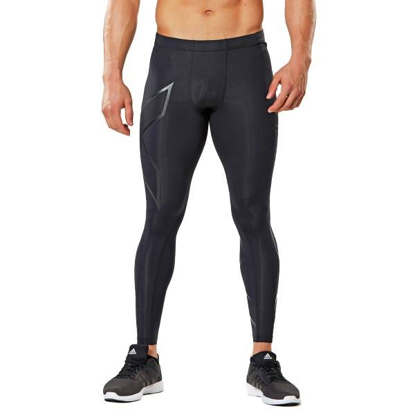 2XU TR2 Compression Tights - Black - Large-Tall