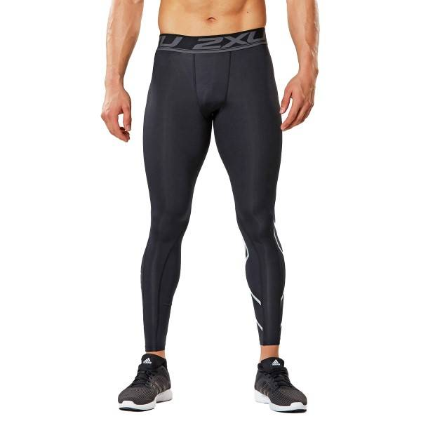 2XU Accelerate Compression Tights - Black - Medium-Tall