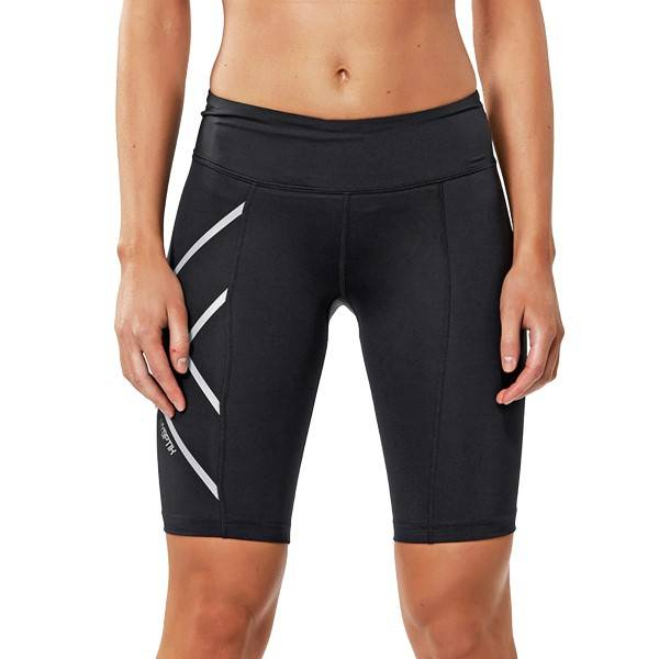 2XU Hyoptik Mid-Rise Compression Short - Black - Small