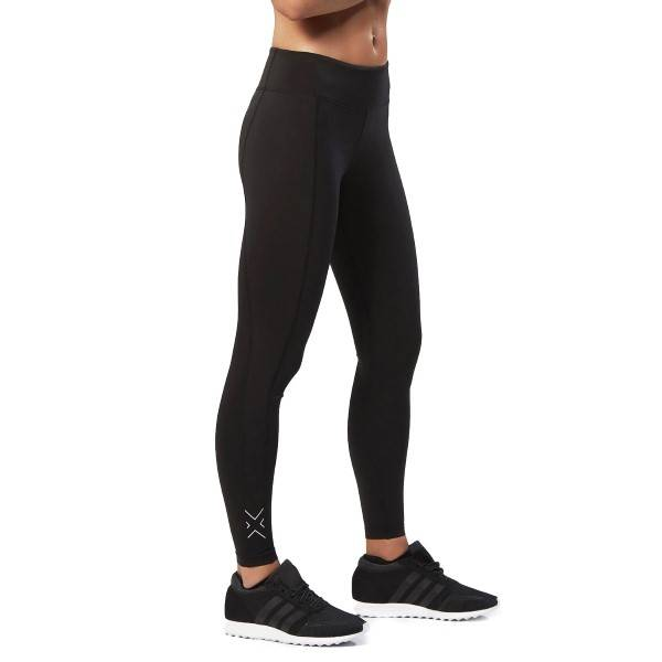 2XU Fitness Compression Tights - Black/Silver-2 - Small-Tall