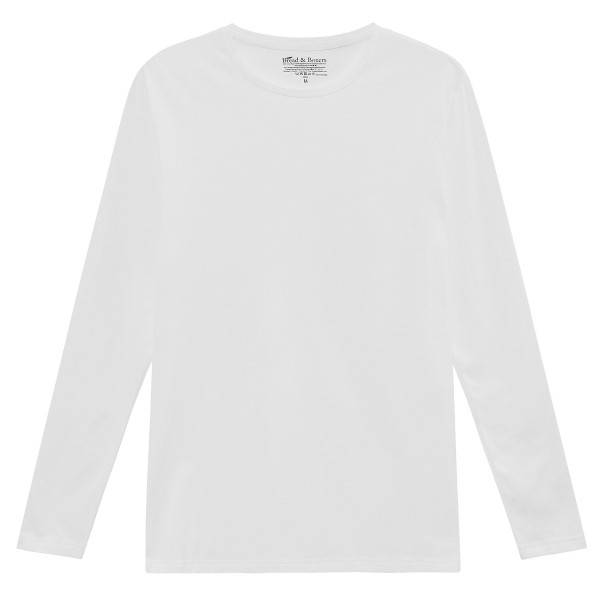 Bread & Boxers Bread and Boxers Long Sleeve Crew Neck - White