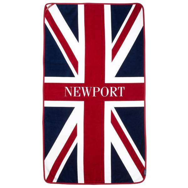 Newport Union Jack Beach Towel - Navy/Red - One Size